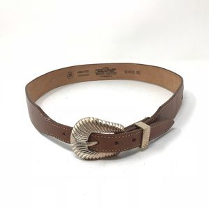 Silver Creek Collection 28 Leather Woven Belt